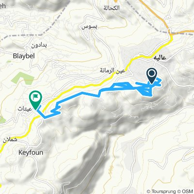 small tour in aley then from aley to aitet
