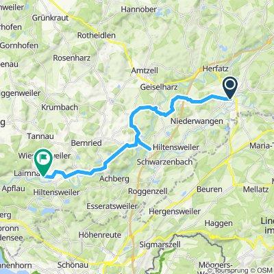 1. Etappe Familie Wangen-Haslach-Pflegelberg- Burg Achberg-Badhütten