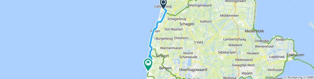Moderate Route in Bergen aan Zee