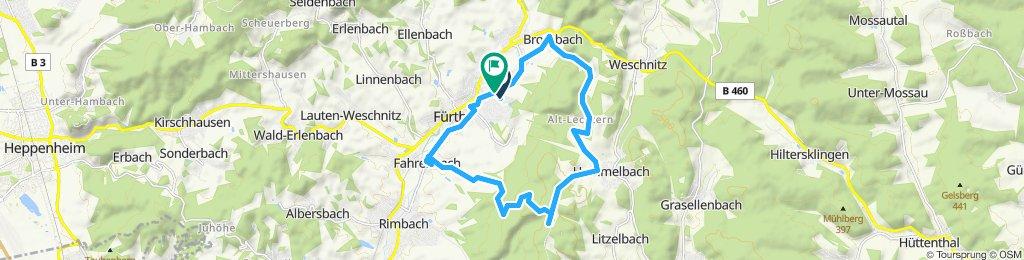 Fürth - Kröckelbach - Brombach - Hammelbach - Tromm - Fahrenbach - Fürth
