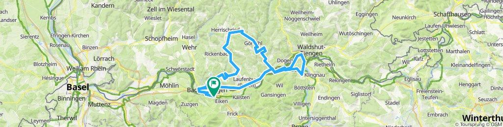 Säckingen - Gippingen - Buch - Strittmatt - Oberhof - Harpolingen - Säckingen