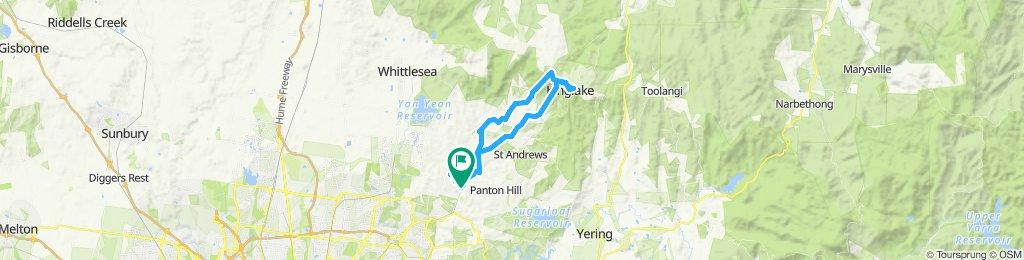 e-MTB Adventure Ride. Hurstbridge, Kinglake, Hurstbridge.