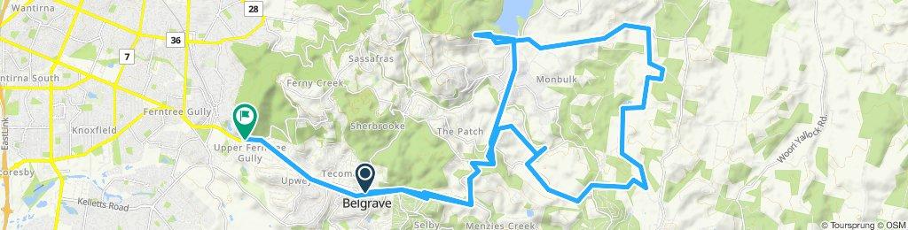 e-MTB Adventure Ride. Belgrave, Dandenong Ranges, Silvan Reservoir, Upper Ferntree Gully.