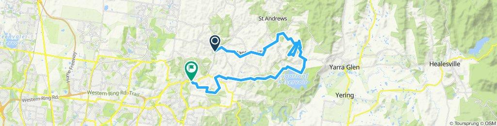 e-MTB Adventure Ride. Hurstbridge, Warrandyte-Kinglake Nature Conservation Reserve, Diamond Creek.