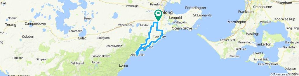 e-MTB Adventure Ride. Waurn Ponds, Torquay, Aireys Inlet, Waurn Ponds. Including the Surf Coast Walk.