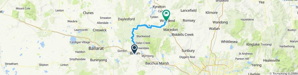 e-MTB Adventure Ride. Ballan, Lyonville, Trentham, Woodend.