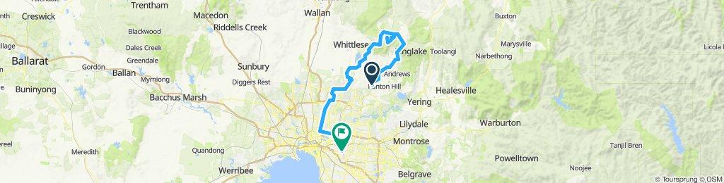 e-MTB Adventure Ride. Hurstbridge, Kinglake West, South Morang, Camberwell.