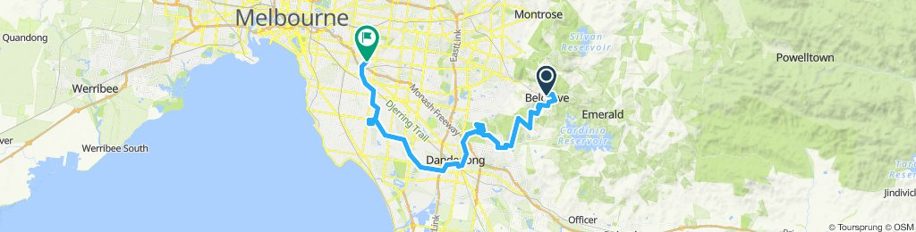 e-MTB Adventure Ride. Belgrave, Lysterfield Park, Dandenong, Dingley Bypass, Karkarook Park, Ashburton.