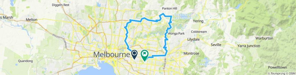 e-MTB Adventure Ride. Camberwell, Greensborough, Wattle Glen Ringwood, Box Hill.