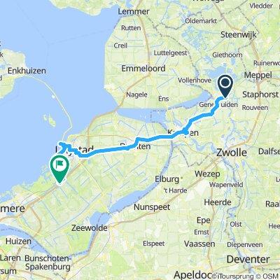 Ijsselmeer-Radtour-Etappe 7a