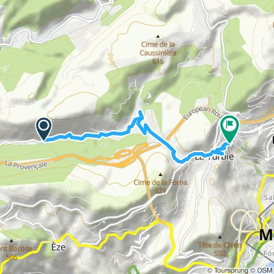 Moderate route in Ла-Тюрби