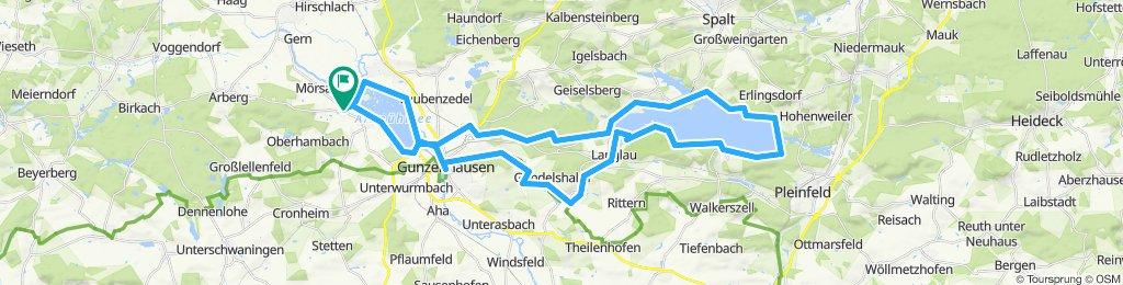 Streudorf - Altmühlsee - Brombachsee - Streudorf