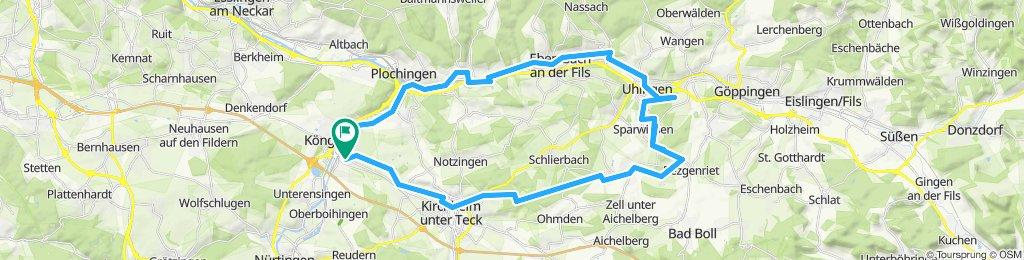 Schöne Tour Wendlingen - Filseck
