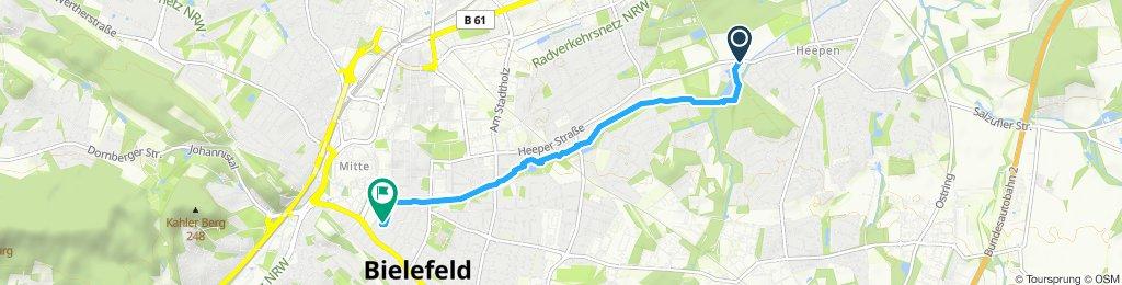 Gerade Fahrt in Bielefeld