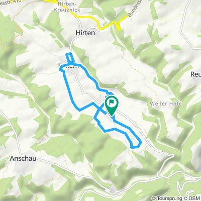 Route im Schneckentempo in Weiler