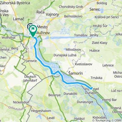 Bratislave - Donau Richtung Gabcikovo