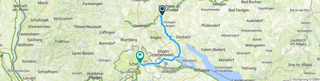 Tuttlingen - Radolfzell - Schaffhausen