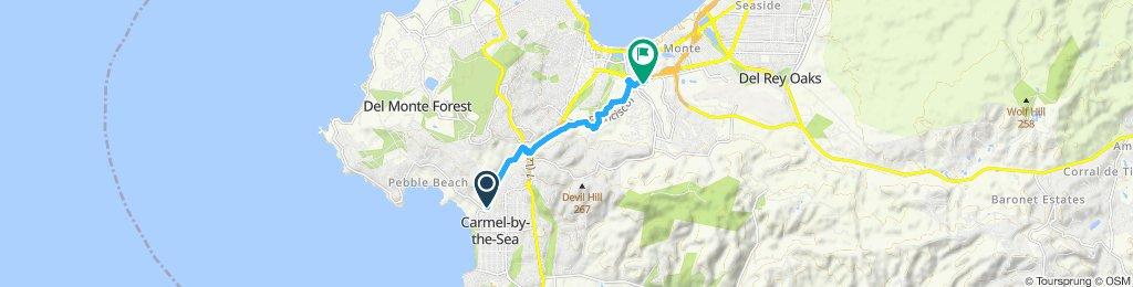 Snail-like route in Monterey