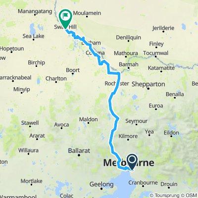e-MTB Adventure Ride. Melbourne to Swan Hill.