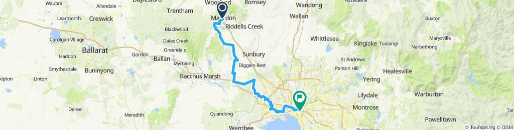 e-MTB Adventure Ride. Macedon, Melbourne.
