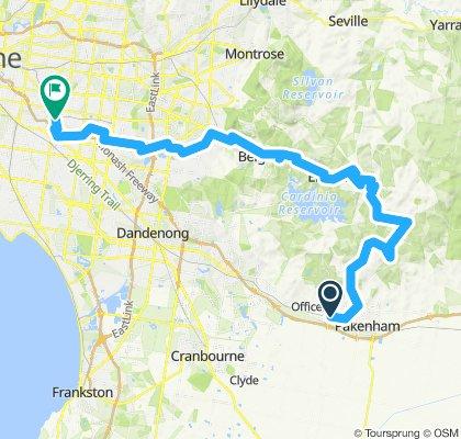 e-MTB Adventure Ride. Cardinia Road Stn, Belgrave, Ashburton.