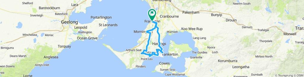 e-MTB Adventure Ride. Frankston, Red Hill, Hastings, Frankston.