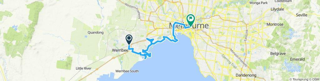 e-MTB Adventure Ride. Hoppers Crossing, Altona, Melbourne.