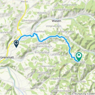 Langsame Fahrt in Kirchberg (BE)