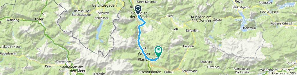 Gerade Fahrt in Salzburg