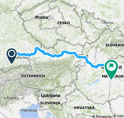 Munchen Budapest Bikemap Deine Radrouten