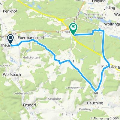 Gerade Fahrt in Kümmersbruck