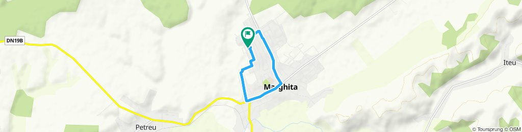Snail-like route in Marghita