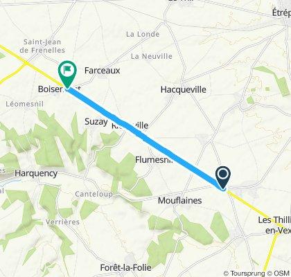 Gerade Fahrt in Les Andelys