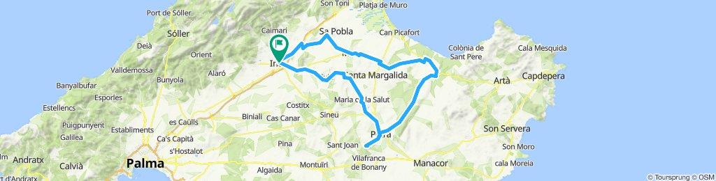 Cami de Buger-San Vicens-Muro-Son Serra-Comunes-Bonany-Petra-maria-llubi-Inca