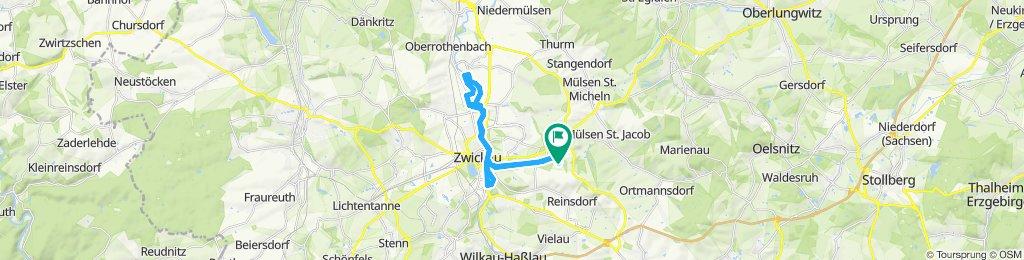 Einfache Fahrt in Zwickau