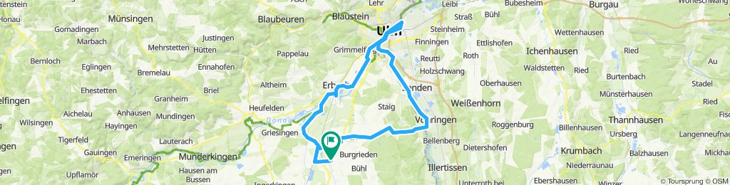 Saturday ride to Ulm along Iller and Donau