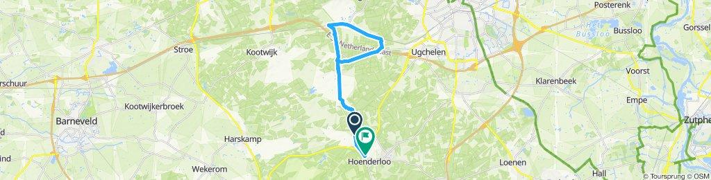 Route im Schneckentempo in Hoenderloo