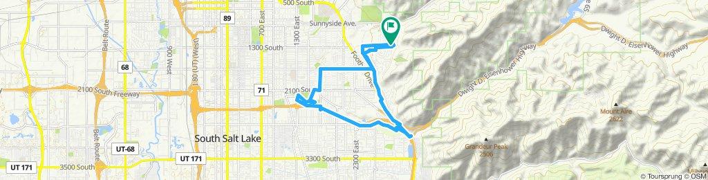 Slow ride in Salt Lake City