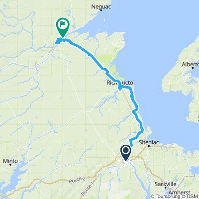 Moncton - Miramichi 190km
