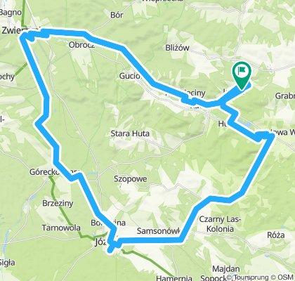 Jacnia-Zwierzyniec-Jozefow-Krasnobrod-64 km
