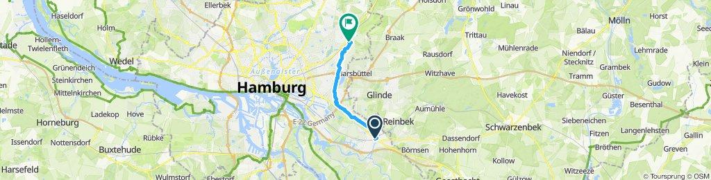 Gemütliche Route in Hamburg