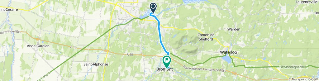 Relaxed route in Bromont