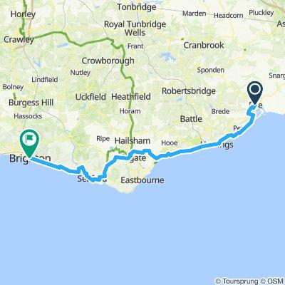 Rye to Brighton