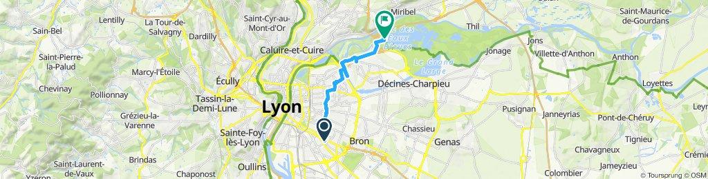 Itinéraire modéré en Vaulx-en-Velin