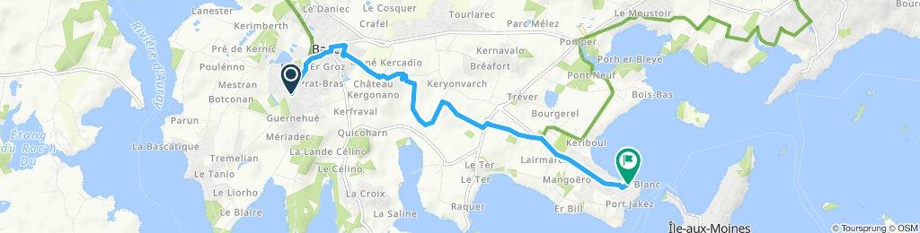 Snail-like route in Baden