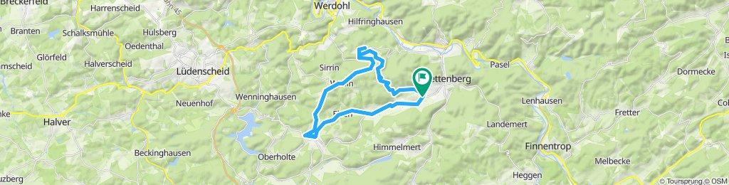 Gerade Fahrt in Plettenberg
