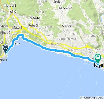 Gemütliche Route in Opatija