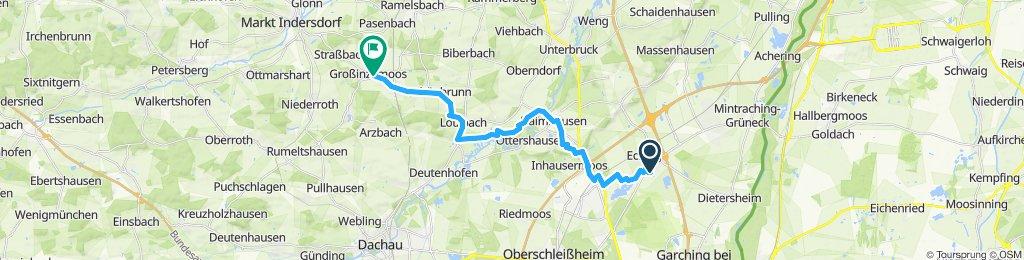 Langsame Fahrt in Röhrmoos