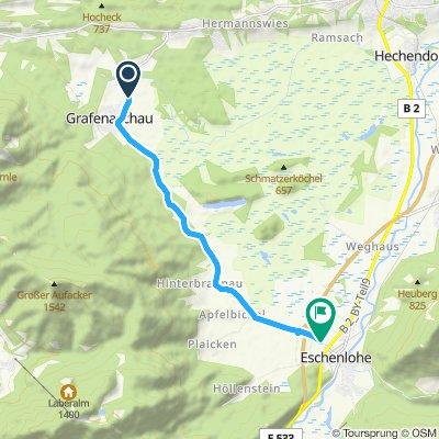 Langsame Fahrt in Eschenlohe