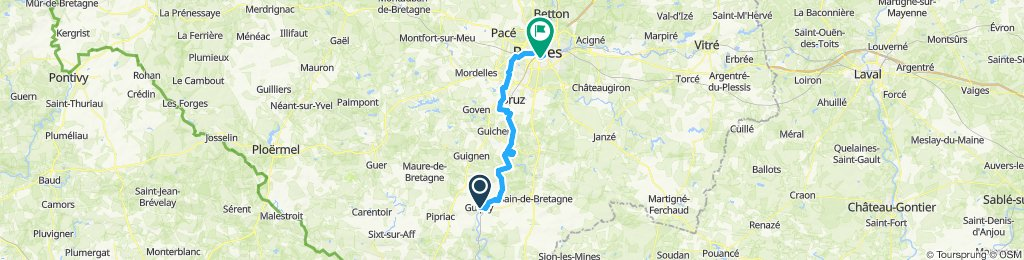 Messac to Rennes by river Vilaine